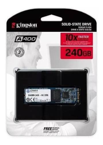 Ssd 240gb M2 Kingston A400 M.2 Leitura 500mb/s Sa400m8/240g