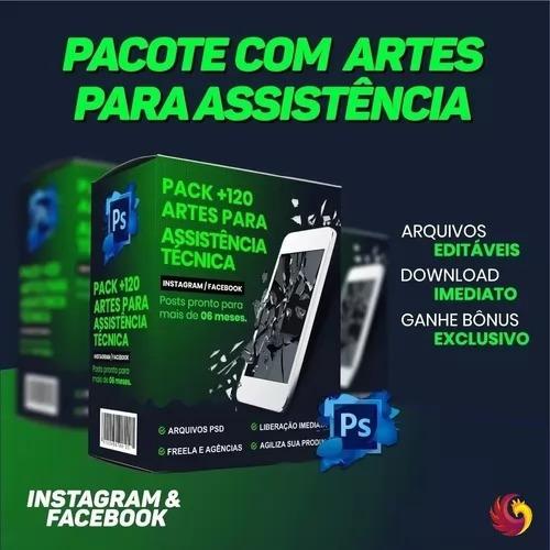 Pack 130 Artes Assistência Técnica Celular Para Photoshop