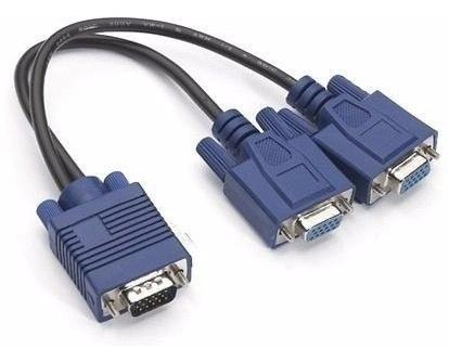 Cabo Y - Permite Ligar Um Pc A 2 Monitores Ou Projetores
