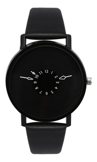 Relógio Minimalista - Criativo Preto