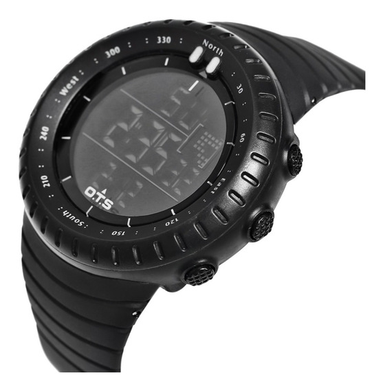 Relógio Esportivo Digital Ots T7005g Masculino Militar Shock