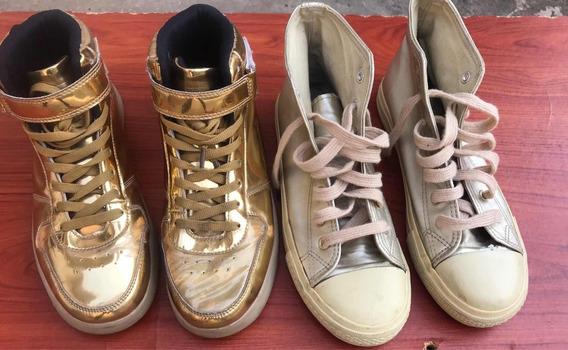 Zapatos Dorados Talla 40