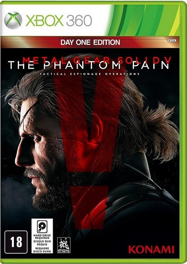 Jogo Metal Gear Solid V The Phantom Pain Xbox360 Ntsc Em Dvd