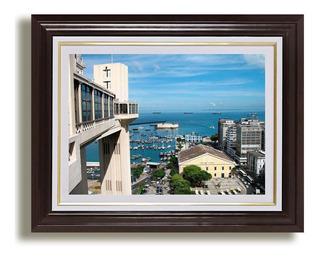 Quadro Bahia Salvador 65x45cm Cidades Elevador Decoracao
