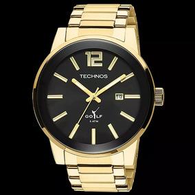 Relógio Masculino Technos Original Aço Dourado 2115tt/4p