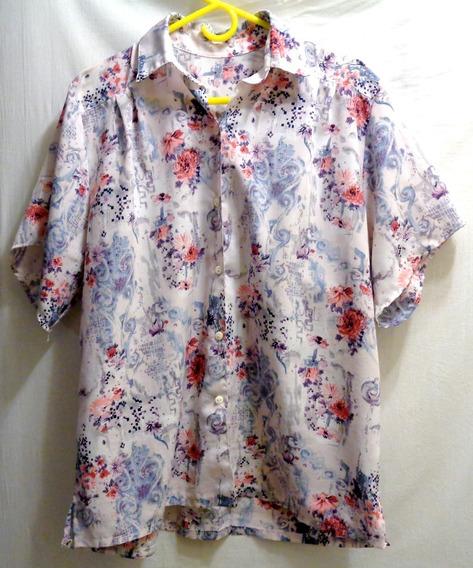 Camisa Vestir Talle 5 Vintage Sisa 60 Mangas Cortas