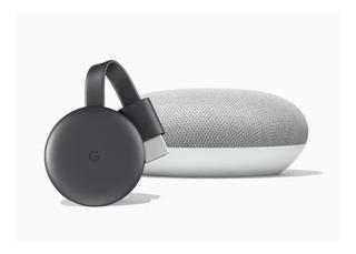 Google Home Mini Asistente Virtual + Chromecast 3 Smart Tv Kit