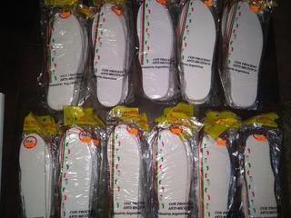 30 Plantillas De Toalla Con Látex Antimicótico Zapatillas