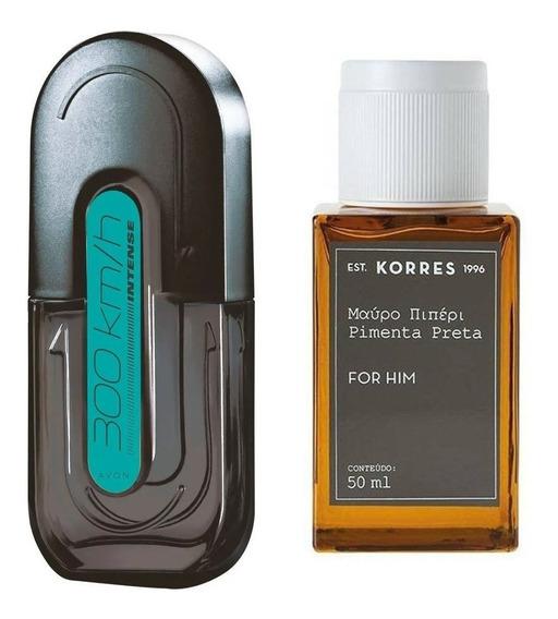 Combo Perfumes Avon 300 Km/h Intense + Korres Pimenta Preta