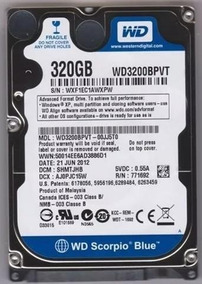 Hd Notebook 320gb Sata Western Digital