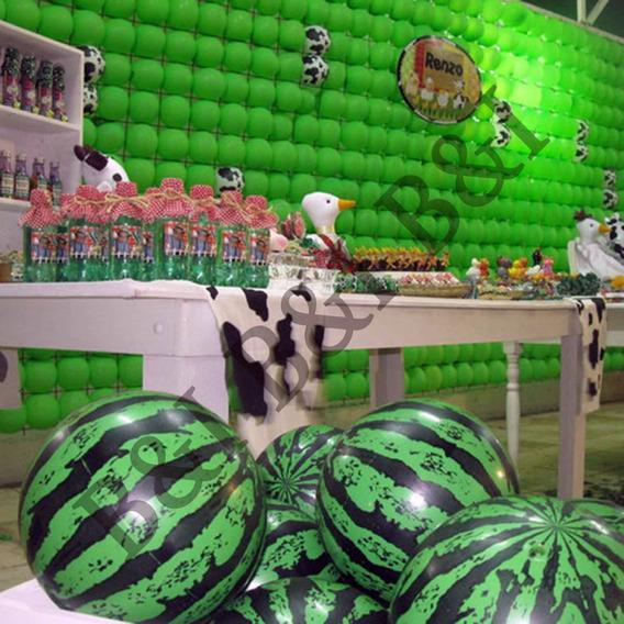Kit 5bolas Melancia Inflável P/ Decoração Festa Luna-fazenda