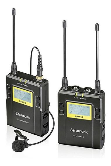 Microfone Lapela Sem Fio Wireless Saramonic Uwmic9 Rx9 + Tx9