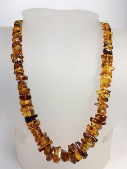 Collar De Ámbar Auténtico, Forma De Chip, Chiapaneco