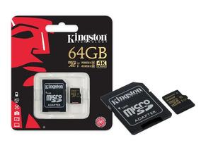 Cartão De Memória Micro Sdxc Gold 64gb Com Adaptador Sd