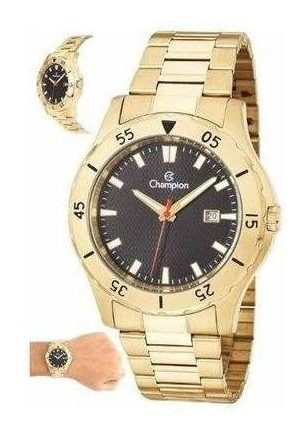 Relógio Analógico Masculino Dourado Champion Ouro + Nf Análo