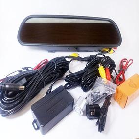 Monitor Retrovisor Lcd Câmera Ré Flex E Sensores - Tech One