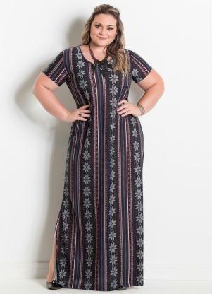 7cfac38ab Vestido Longo Moda Evangélica Plus Size Gordinha 50,52,54 - R$ 110,00 em  Mercado Livre