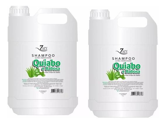 2 Shampoo De Quiabo Salao Beleza Profissional Galão 5 Litro