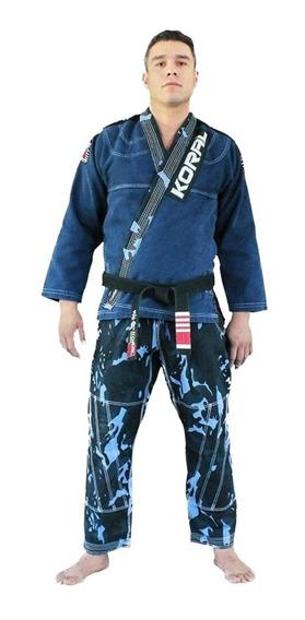 Kimono Jiu Jitsu Koral Mkm Stone Camuflado Azul