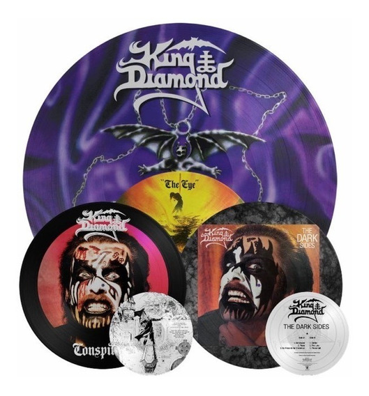Lp King Diamond Conspiracy Eye Dark Sides Picture Disc Lote