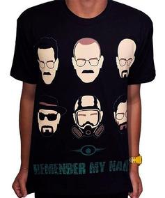 Camisas Camiseta De Series Faces Heisenberg - Breaking Bad