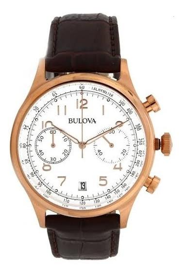 Relógio Bulova Masculino Com Calendário Wb22391b Rosê