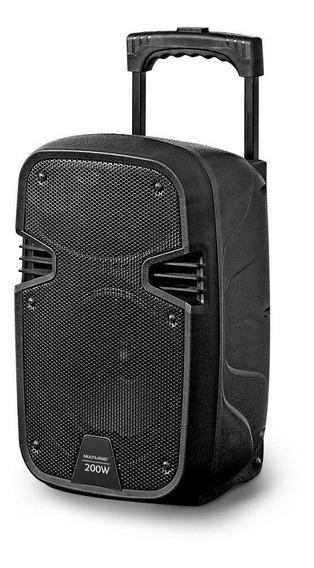 Caixa De Som Amplificadora + Microfone 200w Sp329 Multilaser