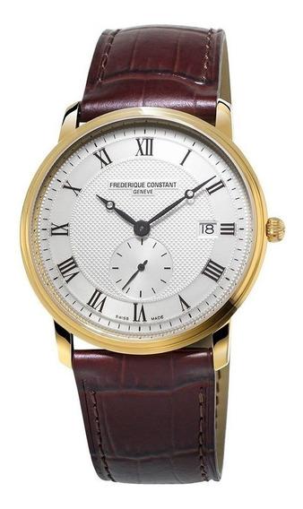 Reloj Frederique Constant Fc-245m5s5 Para Caballero Correa De Piel