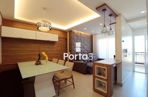 Apartamento À Venda, 77 M² Por R$ 460.000,00 - Parque Residencial Comendador Mancor Daud - São José Do Rio Preto/sp - Ap7664