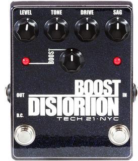 Pedal Tech 21 Boost Distortion Para Guitarra