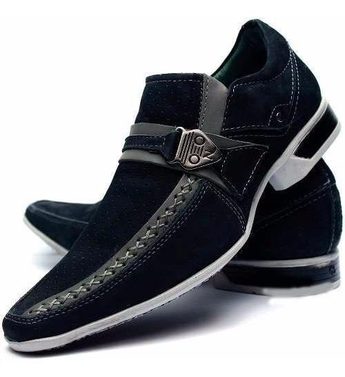 Sapato Social Casual Masculino Couro Legitimo Dhl Calçados