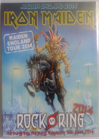 Dvd Iron Maiden - Rock Am Ring 2014 (original E Lacrado)