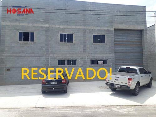 Galpão Para Alugar, 500 M² Por R$ 7.000,00/mês - Parque Dos Eucaliptos - Franco Da Rocha/sp - Ga0027