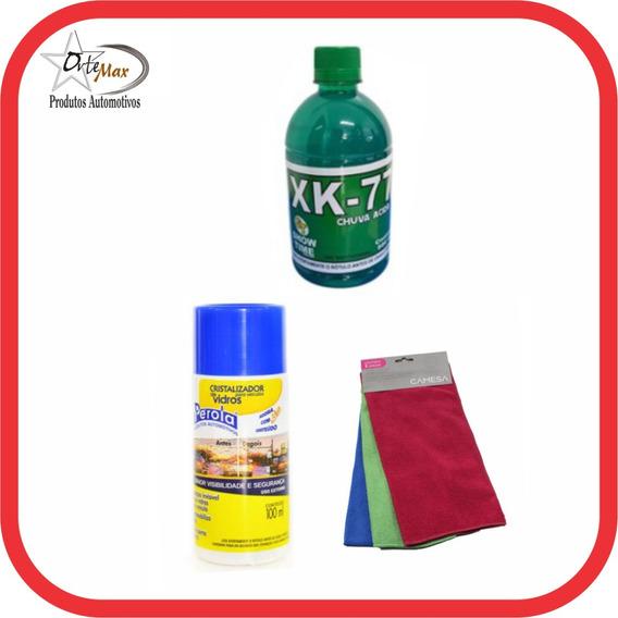 Cristalizador De Vidros + 3 Panos + Chuva Acida