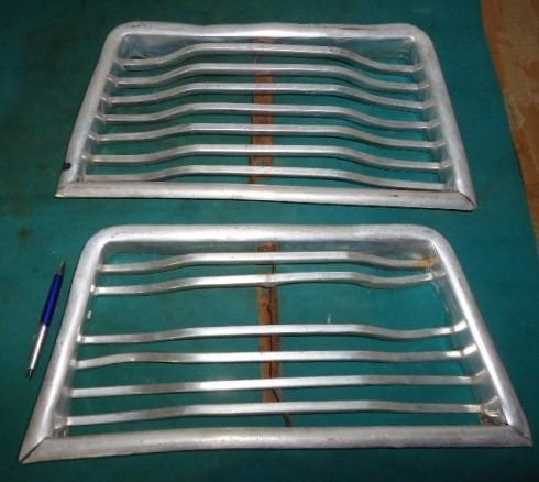 Grade Ford Willys Rural E F75 Original Luxo Aluminio
