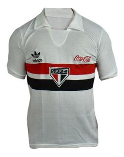 Camisa Retrô São Paulo 1989 Coca Cola Branca Spfc Coquinha