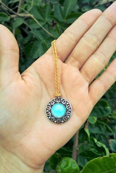 Colar Boho Pedra Da Lua / Hippie / Amuleto / Artesanato