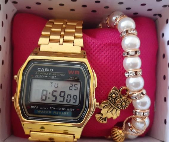 Relógio Casio Retro Feminino + Garantia + Brinde Pulseira