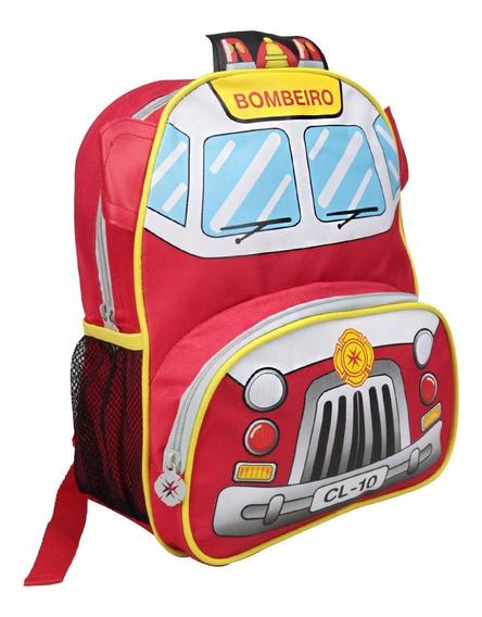 Mochila Infantil Clio Style Kids Aviãozinho Bombeiro Policia