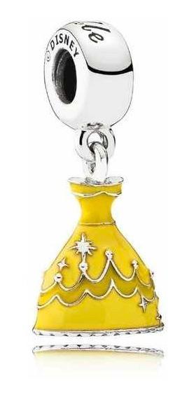 Charm Colgante Original Pandora Plata Vestido Bella Disney