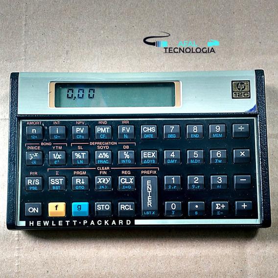 Calculadora Hp 12c Gold Original + Case De Couro!!