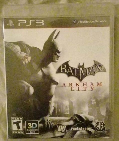 Jogo De Ps3 Batman Arkham Asylum City 3 Dimensoes