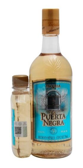 Tequila Joven Puerta Negra 750 Ml + Pacha 250 Ml