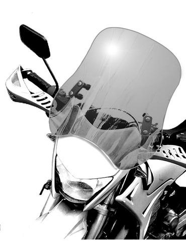 Bolha  Universal Para Motos Em Policarbonato  Fumê 4mm