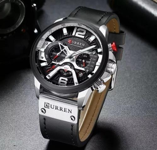 Relógio Masculino Curren 8329 Original Prata - Preto