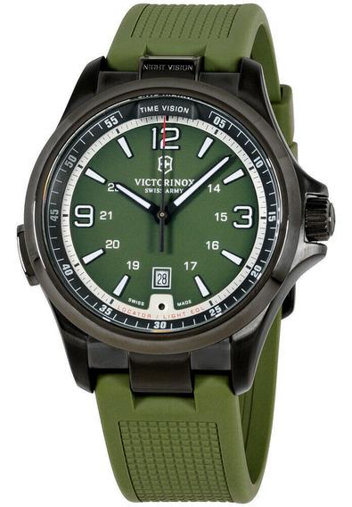 Relógio Masculino Victorinox 241595 Pulseira De Silicone
