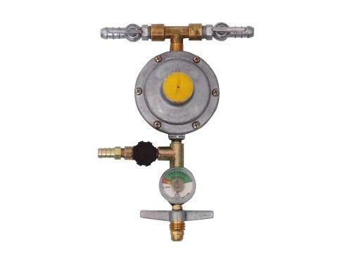 Registro Gás Aliança 3 Saídas Manômetro #4742