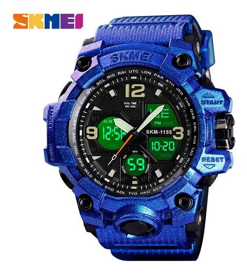 Relógio Camuflado Masculino Skmei Shock S Mostrador Duplo