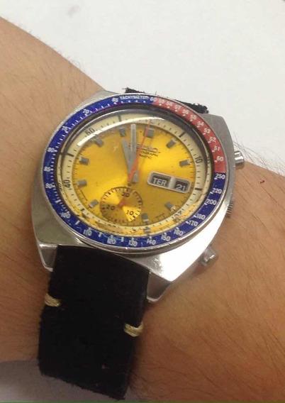 Relógio Seiko Coronel Pogue Pepsi 6139 Amarelo Cronógrafo