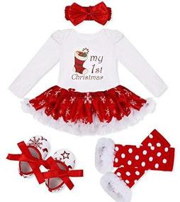 Iefiel Baby Girls Imagen De La Navidad Falda Body Diadema Ca